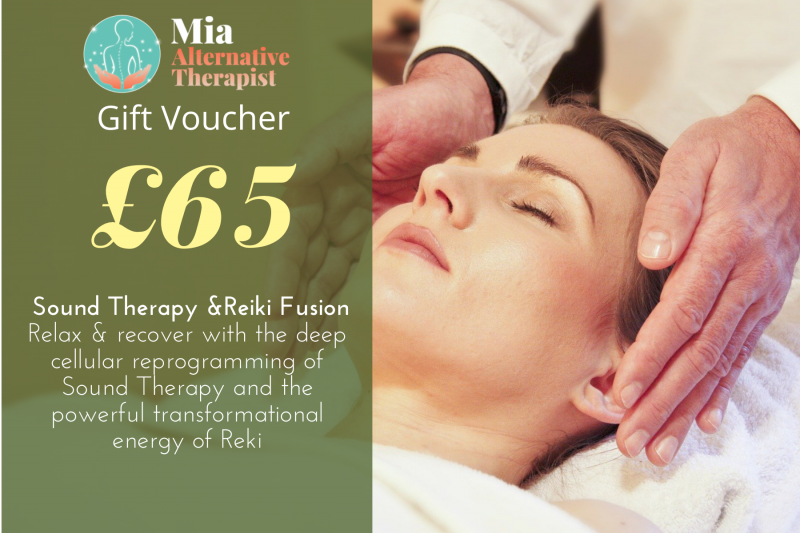 Voucher for Sound Therapy and Reiki Fusion